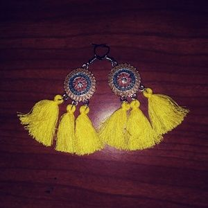 Bohemian Tassel Earrings:  New in Pkg